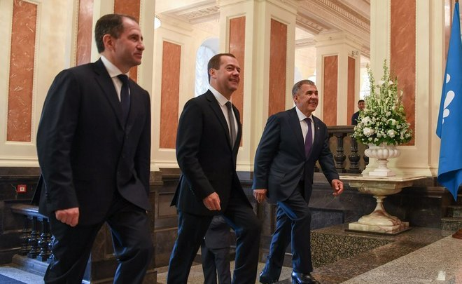 Dmitry Medvedev holds in Kazan three events in one visit