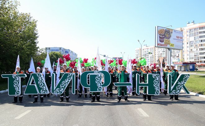 Nizhnekamsk's birthday: TAIF-NK participates in festive procession