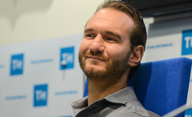 Nick Vujicic: 'I hope that my visit to Kazan actually helps the youth to know that they are beautiful just the way they are'
