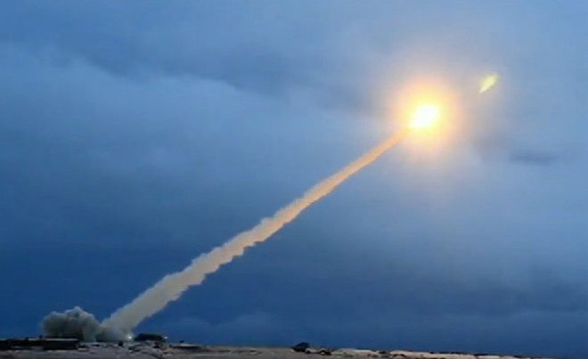 Russian Aerospace Forces test launch Kinzhal hypersonic missile