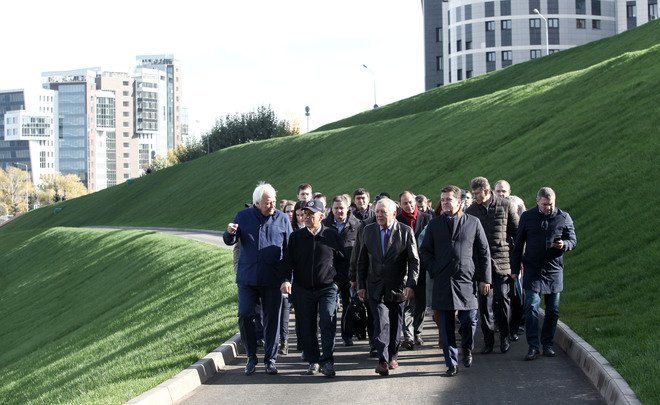 Rustam Minnikhanov about hillside near NCC: ''This improved place will become a point of attraction for residents of Kazan''