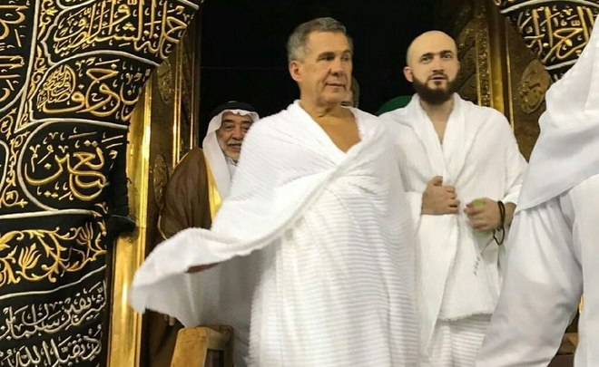 Visiting God and King: Rustam Minnikhanov was introduced to the top league through the door of Kaaba