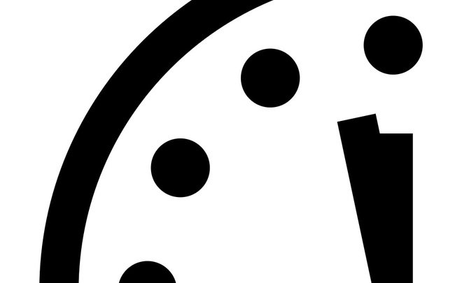 Doomsday Clock only 2 minutes to midnight