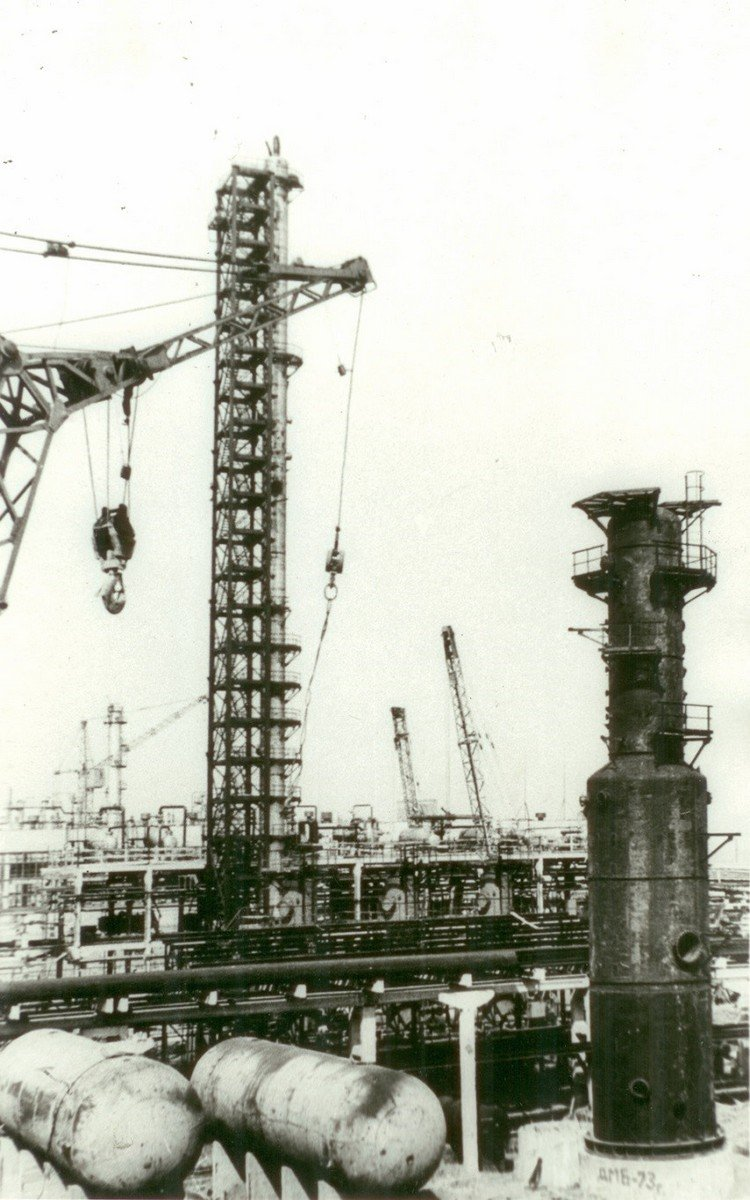 Third stage of ethylen plant's construction, 1973.