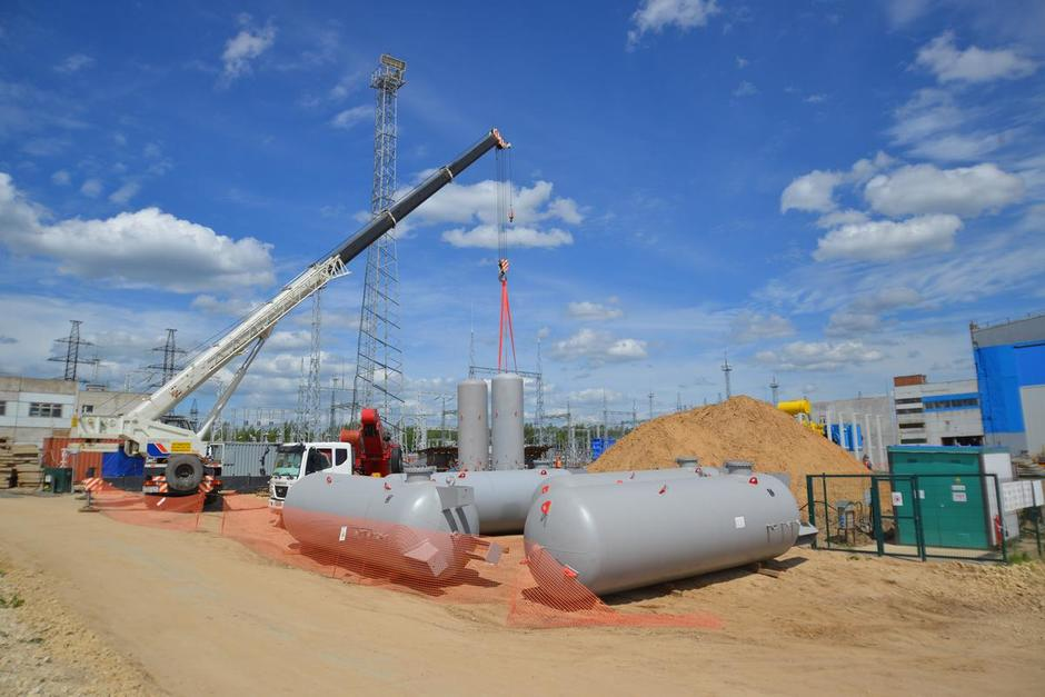 Installation of hydrogen receivers