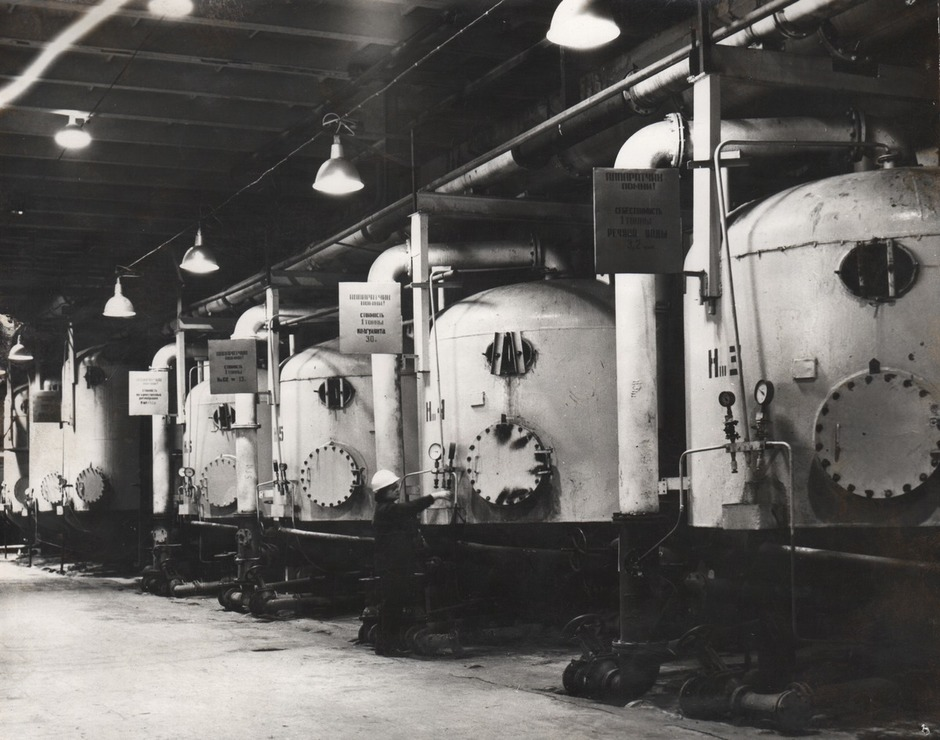 Filtering area of the Chemical Water Treatment Plant-1, 1967