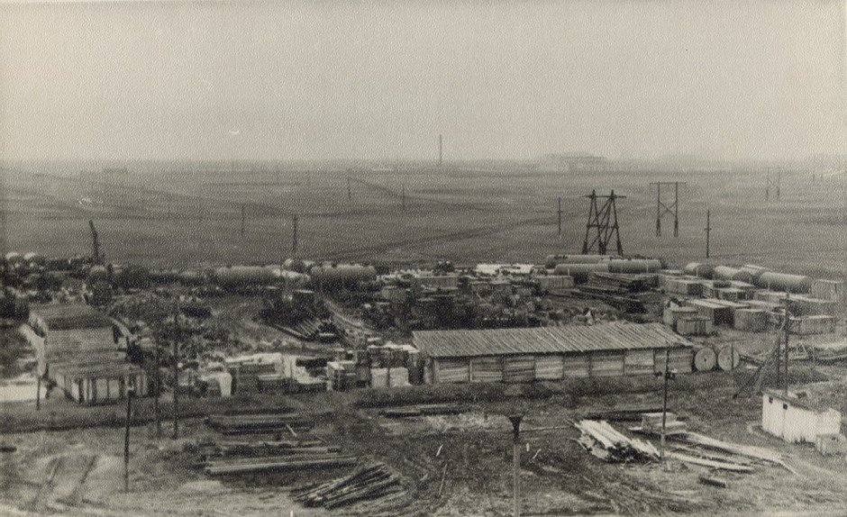 Beginning of the plant's construction.