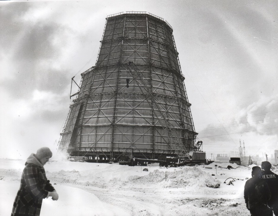 The construction of a cooling tower