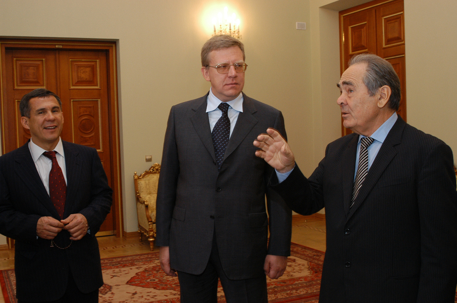 With the young Minister of Finance of Russia Aleksey Kudrin and the Prime Minister of Tatarstan Rustam Minnikhanov, September 2003