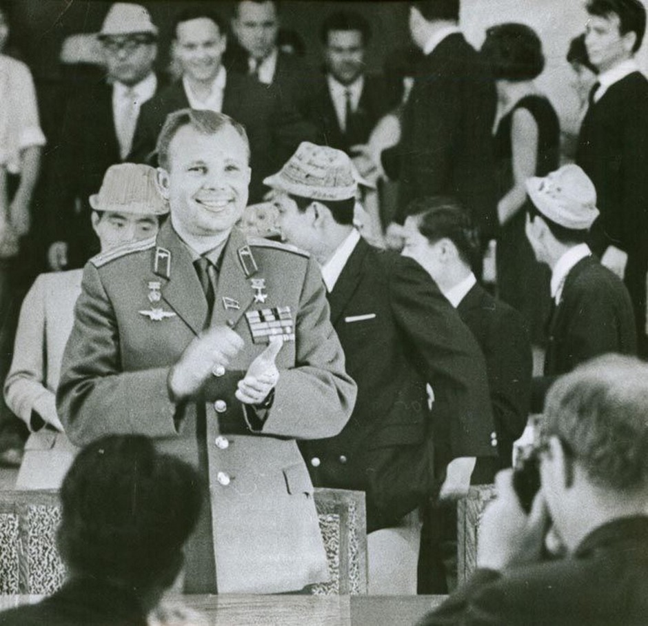 Yuri Gagarin at the festival of Soviet-Japanese youth friendship, Kazan. August, 1967