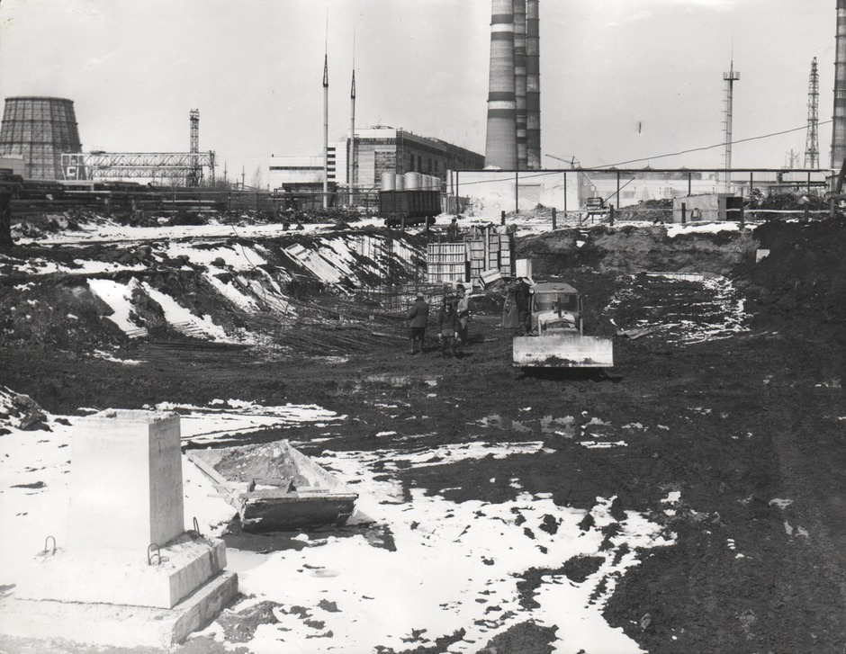 The construction of the Chemical Water Treatment Plant-2